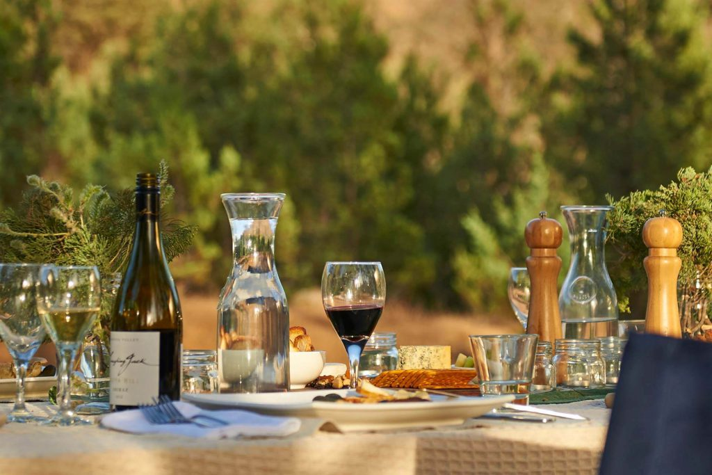 Enjoy a wine at the Mt Benson Wine Region